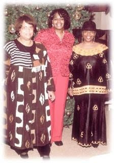 Phyllis pictured on the far right with two of her friends who volunteered to help her with a fundraiser she coordinated for the Harriet Tubman Guild.