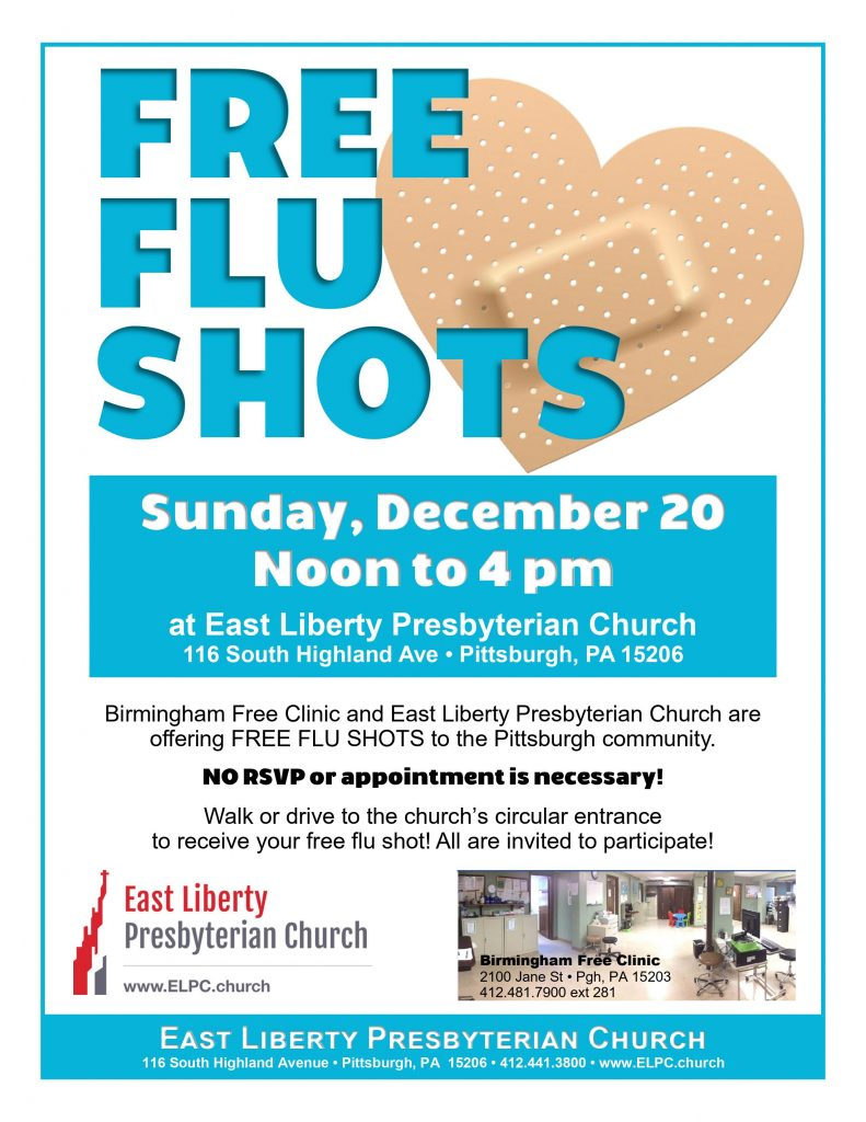 Flu shot drive East Liberty